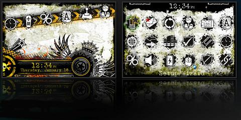 Grunge Theme for BlackBerry